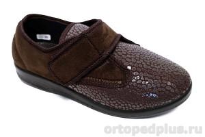 Туфли текстильные 6013 S26 коричневый