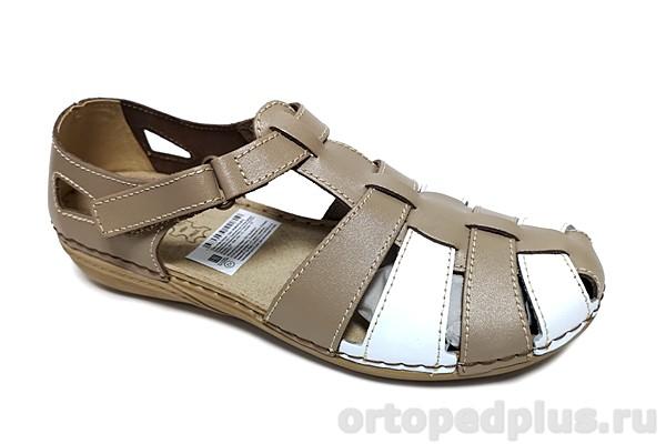 Комфортная обувь Туфли женские VC20CH Б белый/бежевый