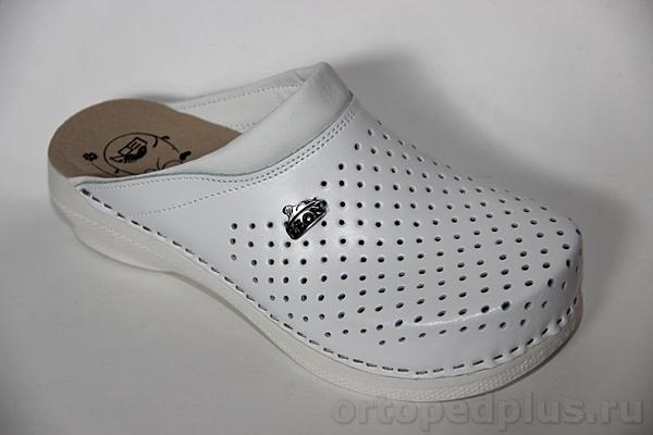 Обувь взрослая комфортная и ортопедическая Леон Cабо PU100 белый