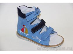 Сандалии 06-110 голубой-синий