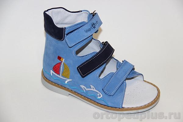 Ортопедическая обувь Сандалии 06-110 голубой-синий
