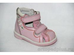 Сандалии 10-021-3 тем. розовый