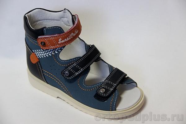 Ортопедическая обувь Сандалии 13-102 синий/красный