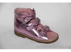 Сандалии 60331 розовый металлик