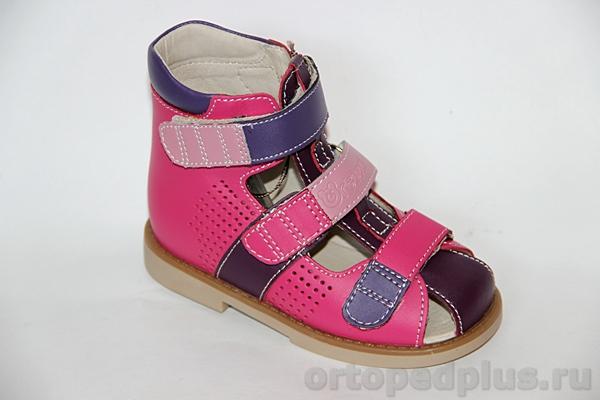 Ортопедическая обувь Сандалии 80A-006B 11HT фуксия/фиолетовый
