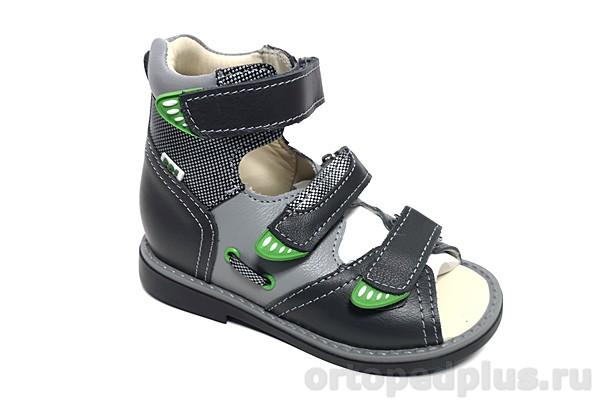 Ортопедическая обувь Сандалии 033-21 синий/серый