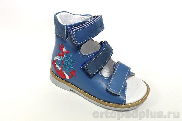 Ортопедическая обувь Сандалии 06-116 голубой