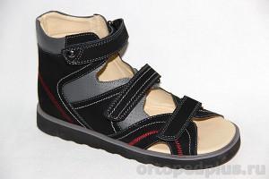 Сандалии 13-104-1 серый/черный