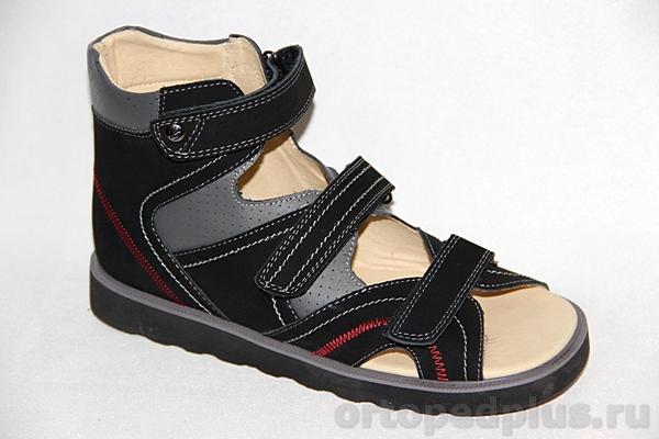 Ортопедическая обувь Сандалии 13-104-1 серый/черный