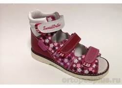Сандалии 15-244S розовый/белый