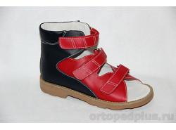 Сандалии 60331 т.синий/красный