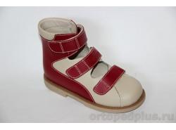 Туфли ОРТ-80А-007B красный/бежевый