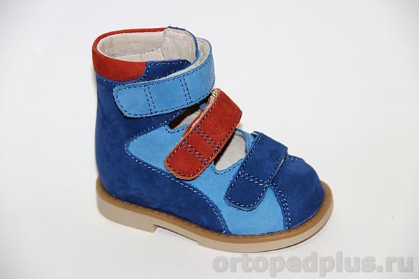 Ортопедические туфли ОРТ-80А-007С 12HT т.синий/син/т.оранж