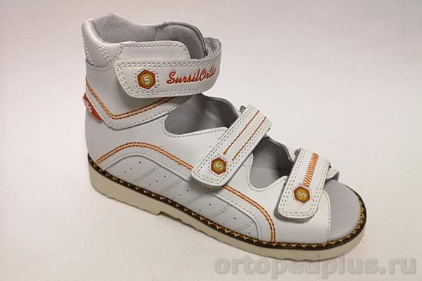 Ортопедическая обувь Сандалии 15-254S белый