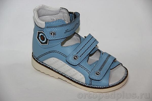 Ортопедическая обувь Сандалии 15-251S голубой/белый