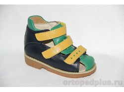 Туфли 73173 т.син/зел/желт