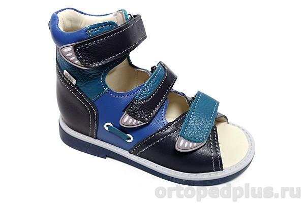 Ортопедическая обувь Сандалии 033-71 синий