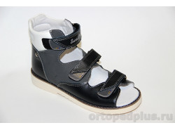 Сандалии15-256S черный/серый/белый