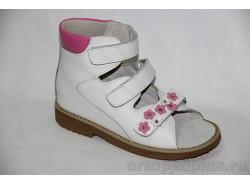 Сандалии 60331 белый/розовый
