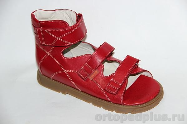 Ортопедические сандалии Гелиос красный