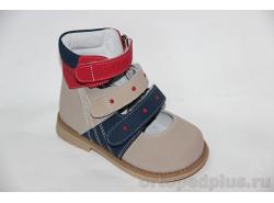 Туфли ОТ-503В красный/беж/синий