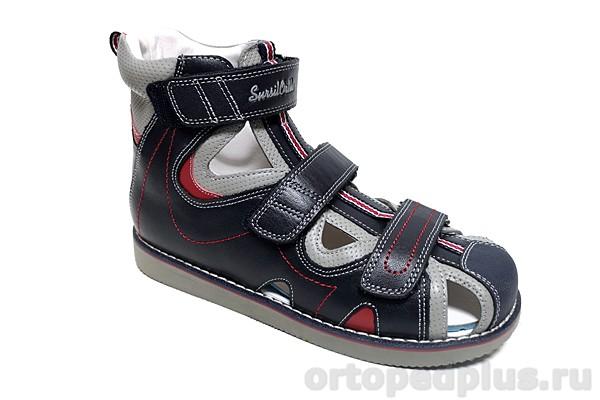 Ортопедическая обувь Сандалии 15-338 синий/серый
