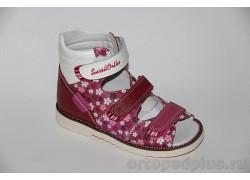 Сандалии 15-244M розовый/белый