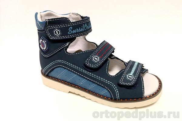 Ортопедическая обувь Сандалии 15-255M синий/голубой