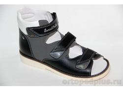 Сандалии15-256М черный/серый/белый