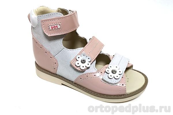 Ортопедическая обувь Сандалии 032-415 белый/розовый