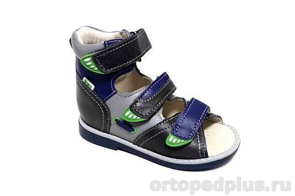 Ортопедическая обувь Сандалии 033-211 синий/серый