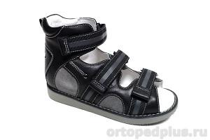 Сандалии 15-342M черный/серый