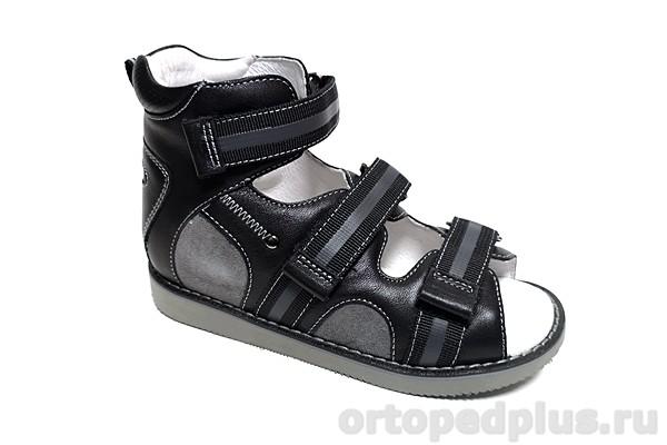 Ортопедическая обувь Сандалии 15-342M черный/серый