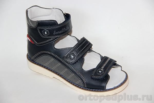 Ортопедическая обувь Сандалии 15-253S син/серый