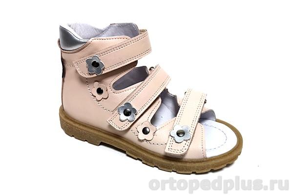Ортопедическая обувь Сандалии 18020 розовый/серебро