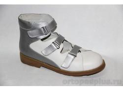 Туфли 66709 белый/серебро