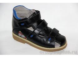 Сандалии 73173 черный/голубой