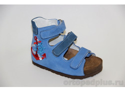 Сандалии 07-001 голубой/синий