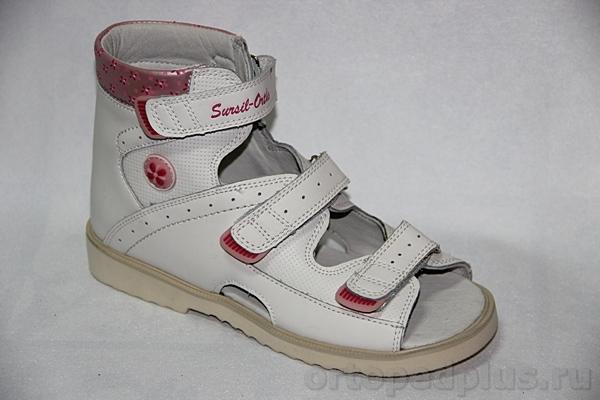 Ортопедическая обувь Сандалии 13-115 белый/розовый