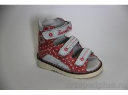 Сандалии 15-245S роз/белый