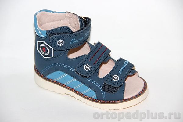 Ортопедическая обувь Сандалии 15-255 синий/голубой
