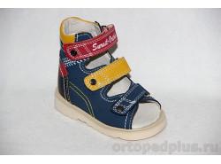 Сандалии 13-101 синий/желтый/красный