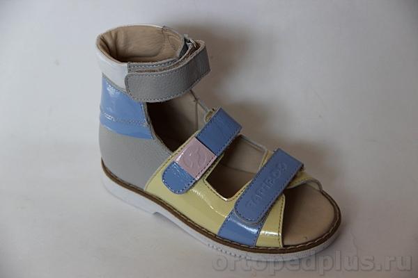 Ортопедическая обувь Сандалии 26005 СЛАДКАЯ ВАТА серый