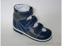 Туфли Антоша син/серый