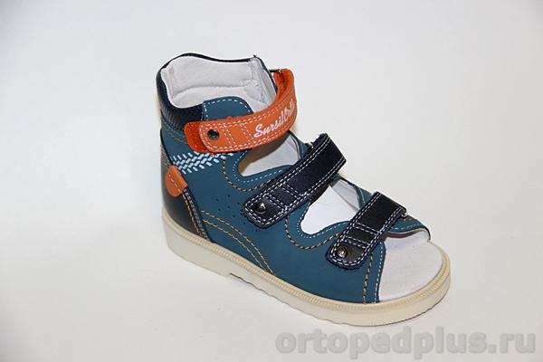 Ортопедическая обувь Сандалии 13-102 син/оранж