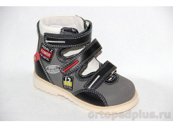 Туфли 13-122 черный/серый