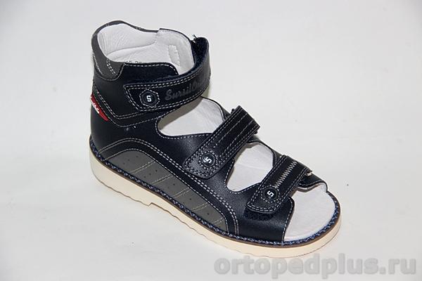 Ортопедическая обувь Сандалии 15-253M син/серый